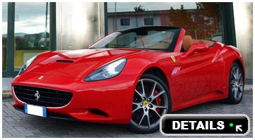 Rent a Ferrari California convertible in Italy