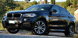 Rent a  BMW X6 in Florence Italy