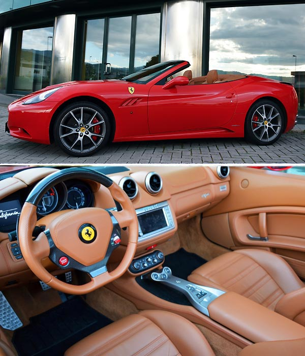 Rent A Ferrari California Cabrio In Italy, Compare Price