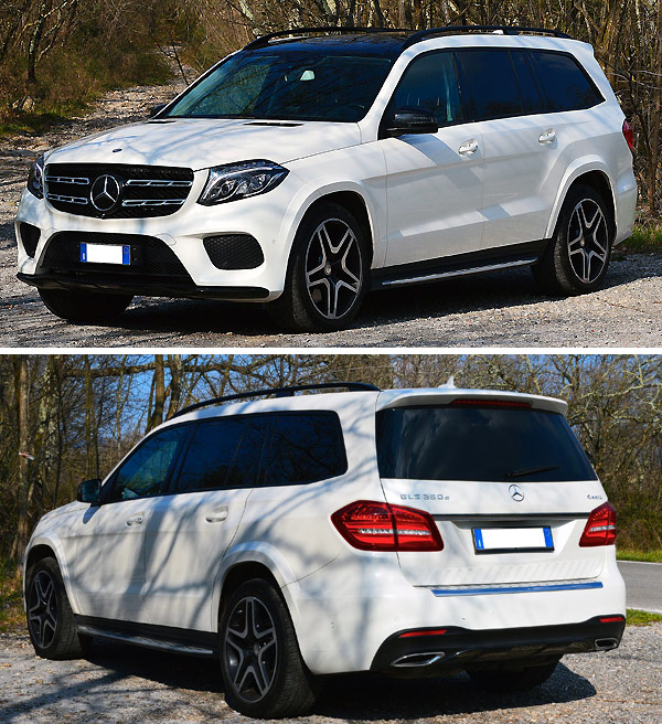 Mercedes GLS Class Color White Rental Italy