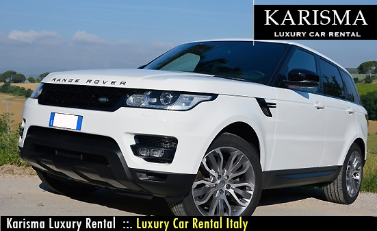 range rover rental italy karisma luxury car rental italy. Black Bedroom Furniture Sets. Home Design Ideas