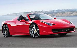 Price rent Ferrari 458 Spider