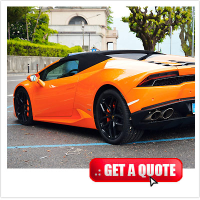 Lamborghini Huracan for rent Italy interior