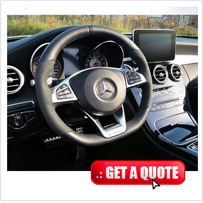 Mercedes C 63 for rent Italy interior