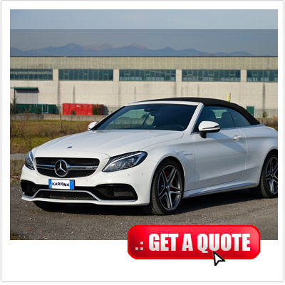 Mercedes C 63 for rent Italy front