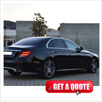 Mercedes E class for rent Italy front