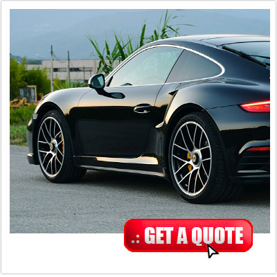 Porsche 911 Turbo S for rent Italy front