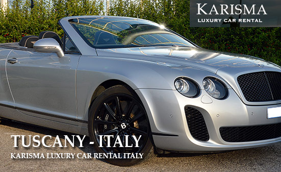 Luxury car hire Tuscany