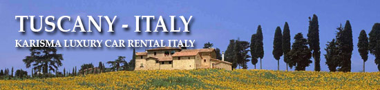 Luxury Car Rental Tuscany Italy